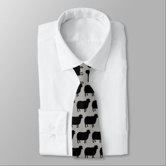 Corbatas Personalizadas La oveja negra siluetea el modelo