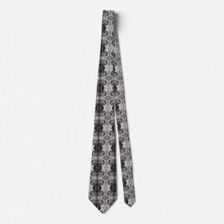 Corbatas Personalizadas Lazo blanco y negro punky del vapor del engranaje