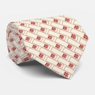 Corbatas Personalizadas Lazo chino del boda del rectángulo de la felicidad