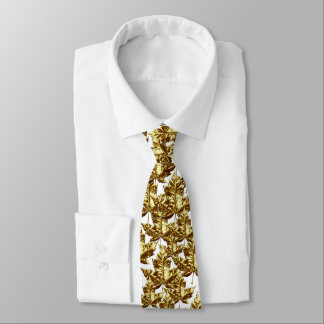 Corbatas Personalizadas Lazo de la hoja de arce de Canadá del oro de la