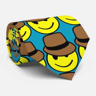 Corbatas Personalizadas Lazo feliz de Fedora de la cara