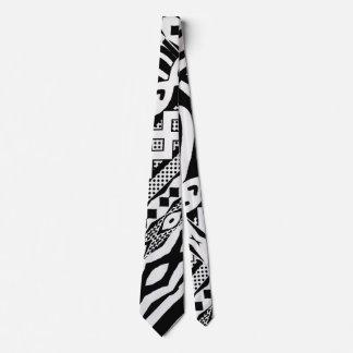 Corbatas Personalizadas Lazo modelado cebra blanco y negro tribal