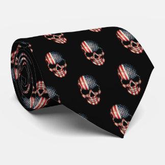 Corbatas Personalizadas Lazo patriótico del cráneo