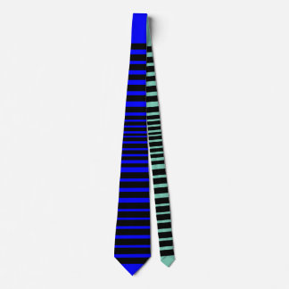 Corbatas Personalizadas Lazo salvaje de la raya (azul fresco)