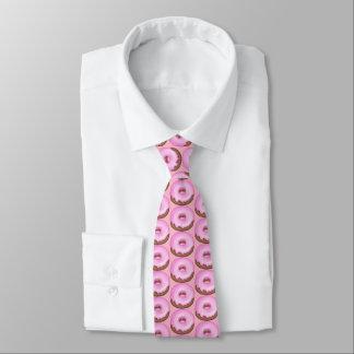 Corbatas Personalizadas Lazo tejado buñuelo helado rosado de la panadería