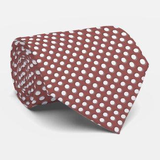 Corbatas Personalizadas Lunares blancos en Marsala