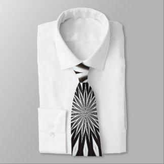Corbatas Personalizadas Mandala decorativa blanco y negro