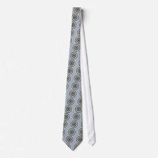 Corbatas Personalizadas Mandala negra y azul