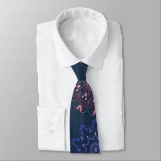 Corbatas Personalizadas Marina de guerra adornada de la mandala de Boho y