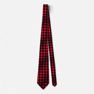 Corbatas Personalizadas MOD retra del tablero de ajedrez rojo y negro de