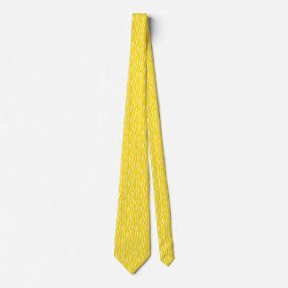 Corbatas Personalizadas Modelo amarillo del estampado de zebra