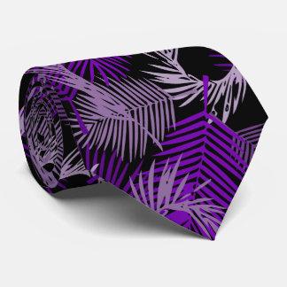 Corbatas Personalizadas Modelo púrpura de las hojas de palma