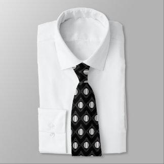 Corbatas Personalizadas Negro y plata encajonados - en lazo