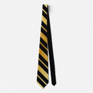 Corbatas Personalizadas Negro y rayas del oro