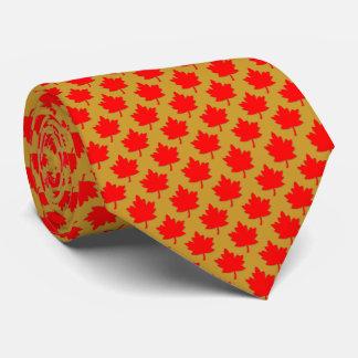 Corbatas Personalizadas Oro rojo de la hoja de arce de Canadá