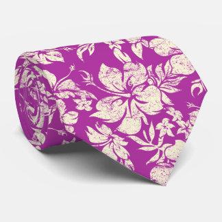 Corbatas Personalizadas Orquídea radiante floral hawaiana de Pareau del