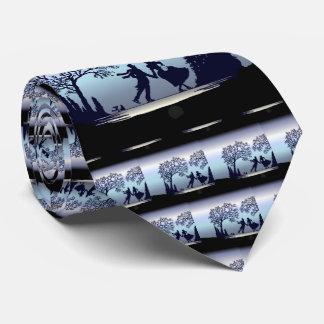 Corbatas Personalizadas Patinaje de hielo en el parque - silueta