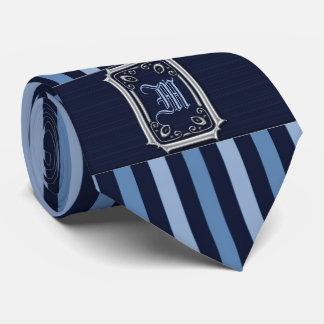 Corbatas Personalizadas Plata con el monograma de la hebilla de las rayas