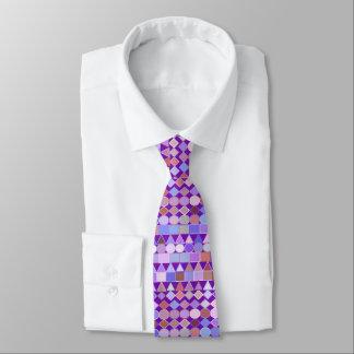 Corbatas Personalizadas Púrpura tribal moderno y de color topo