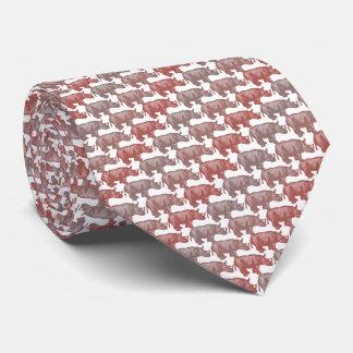 Corbatas Personalizadas Rojo de Armani del rinoceronte