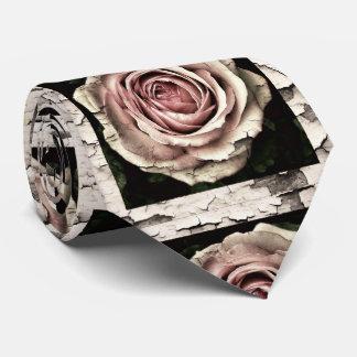 Corbatas Personalizadas rosas agrietados del vintage