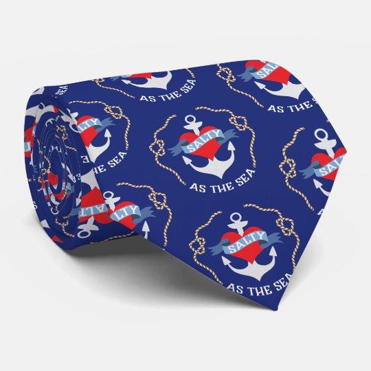 Corbatas Personalizadas Salado como el ancla náutica del mar
