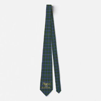 Corbatas Personalizadas Tartán orgulloso del lazo del ancla de Bluenoser