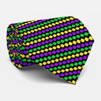 Corbatas Personalizadas Verde del carnaval, amarillo, gotas púrpuras en