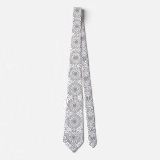 Corbatas Personalizadas Zen tejado blanco y negro Buda de la mandala