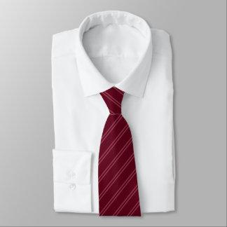 Corbatas Rojo con el lazo doble de las rayas del Pin