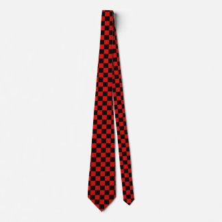 Corbatas Tablero de damas rojo y negro
