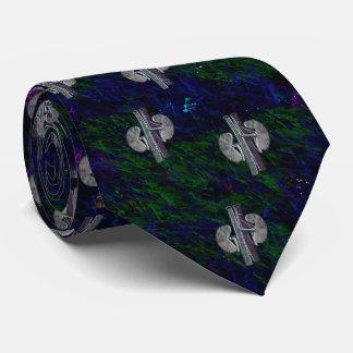 Corbatas Verde azul del diseño artsy único del lazo del