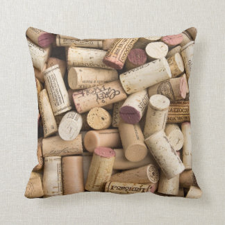 Corcho del vino cojín decorativo