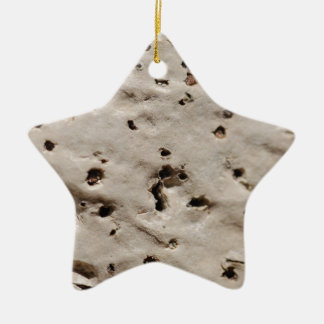 Corcho naturaleza adorno navideño de cerámica en forma de estrella