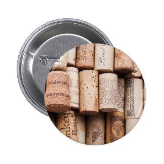 Corchos de la botella de vino pin
