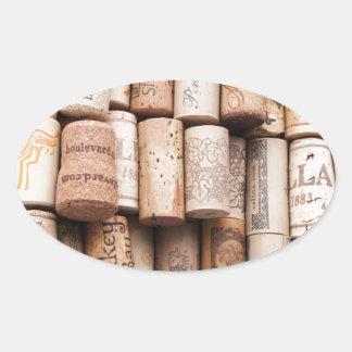 Corchos de la botella de vino etiqueta