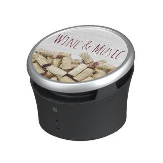 Corchos del vino altavoz