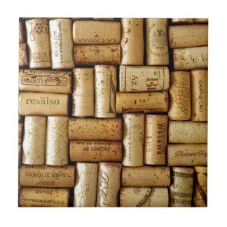 Corchos del vino azulejo cuadrado pequeño