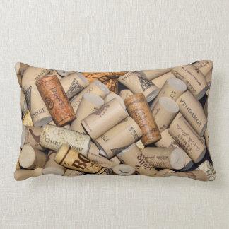 Corchos del vino cojín lumbar
