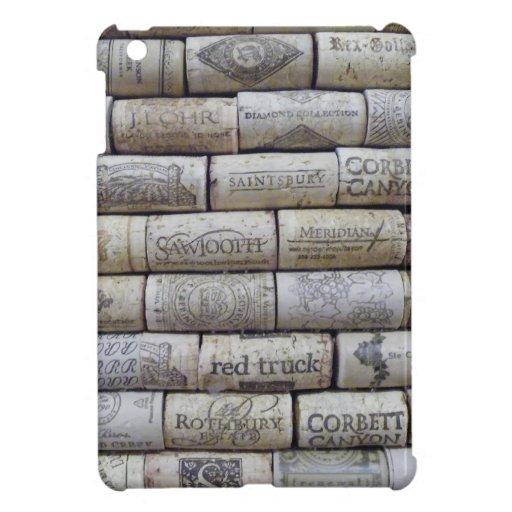 Corchos del vino iPad mini funda