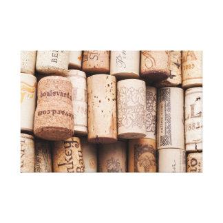 Corchos del vino lienzo