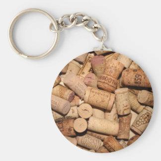 Corchos del vino llavero personalizado