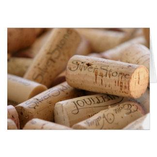 Corchos del vino tarjeta