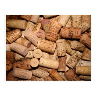 Corchos del vino tarjetas postales