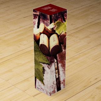 Corchos rústicos de la botella de vino cajas para vino