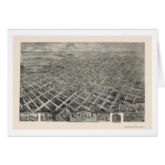 Cordele mapa panorámico del GA - 1908 Tarjetón