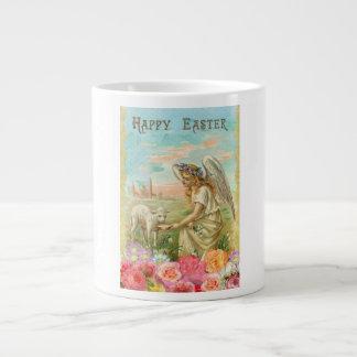 Cordero de alimentación del ángel del vintage taza de café gigante