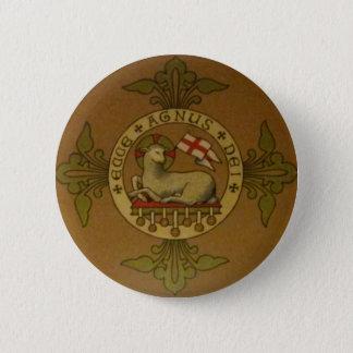 Cordero de dios Ecce Agnus Dei Chapa Redonda De 5 Cm