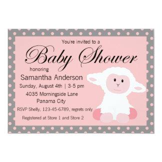 Cordero del bebé y fiesta de bienvenida al bebé invitación 12,7 x 17,8 cm