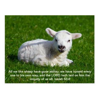 Cordero del Passover, Isaías 53 Postal